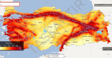 yeni deprem haritası