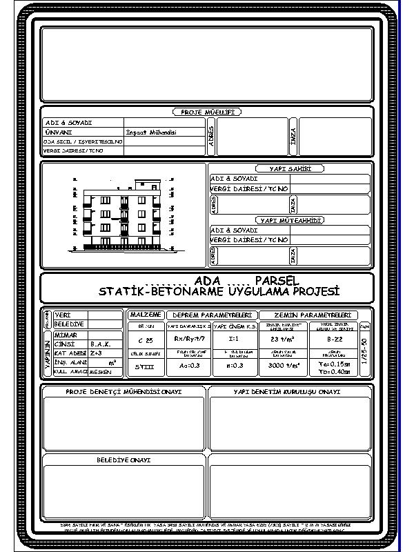statik proje kapağı