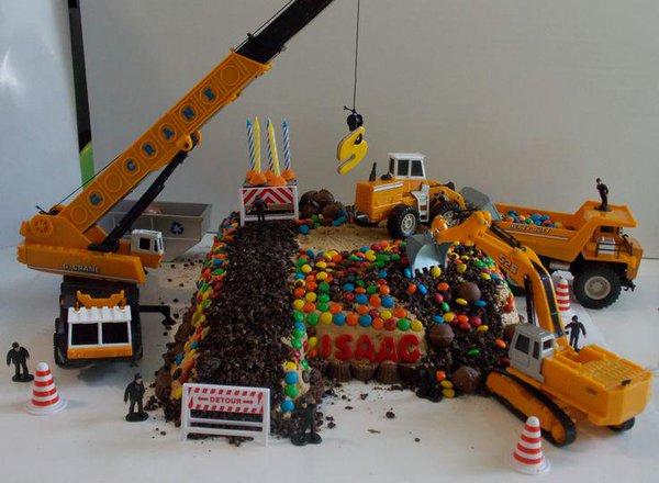 inşaatçı için pasta