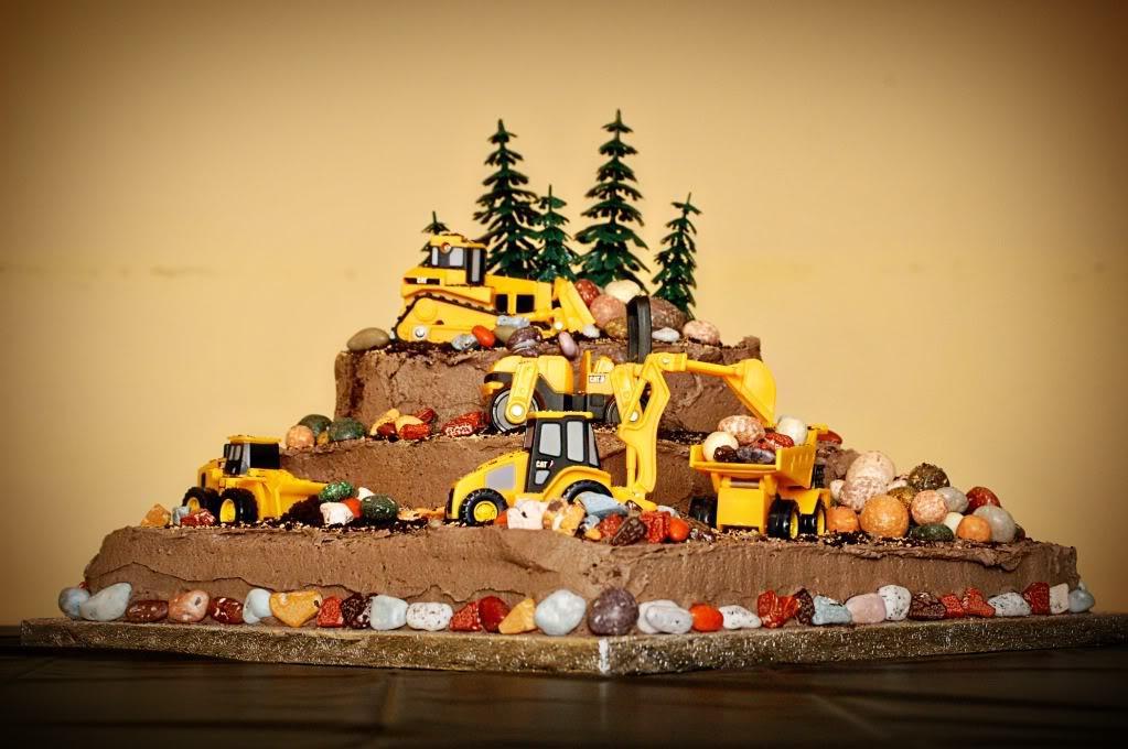 inşaatçı doğum günü pastası