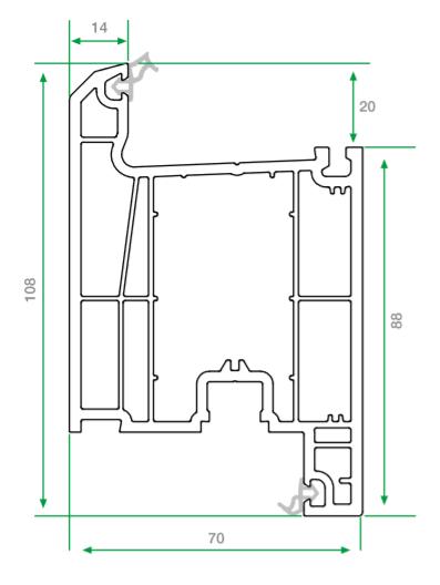 pvc kapı profili