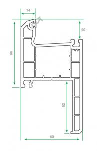 pvc pervazlı kasa profili