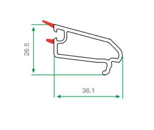 pvc tek cam çıtası 36.1 mm