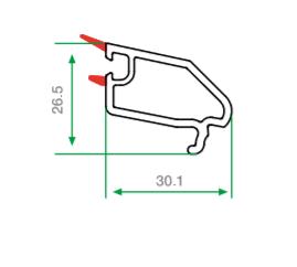 pvc tek cam çıtası 30.1 mm
