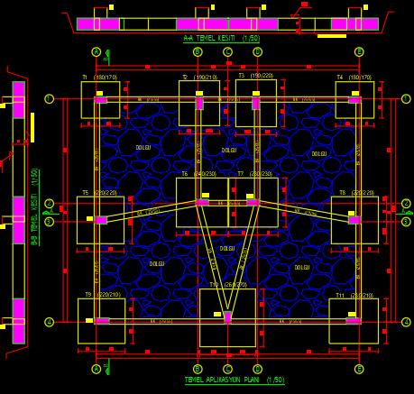 tekil temel beton metraj