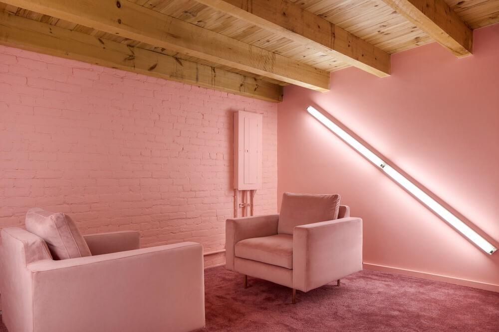 flamingo pembe duvar boyası