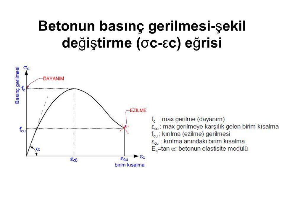 Betonun basınç gerilmesi-şekil değiştirme (σc-εc) eğrisi