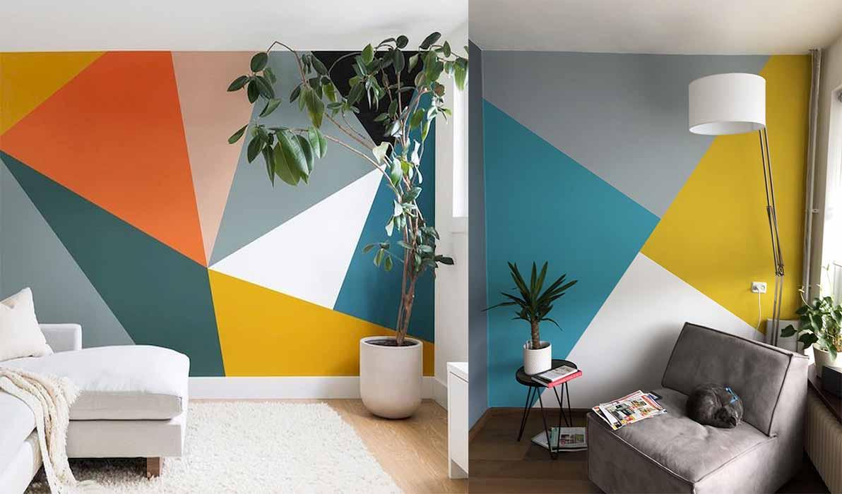farklı-renkli-duvar-boyası-geometrik-desenli