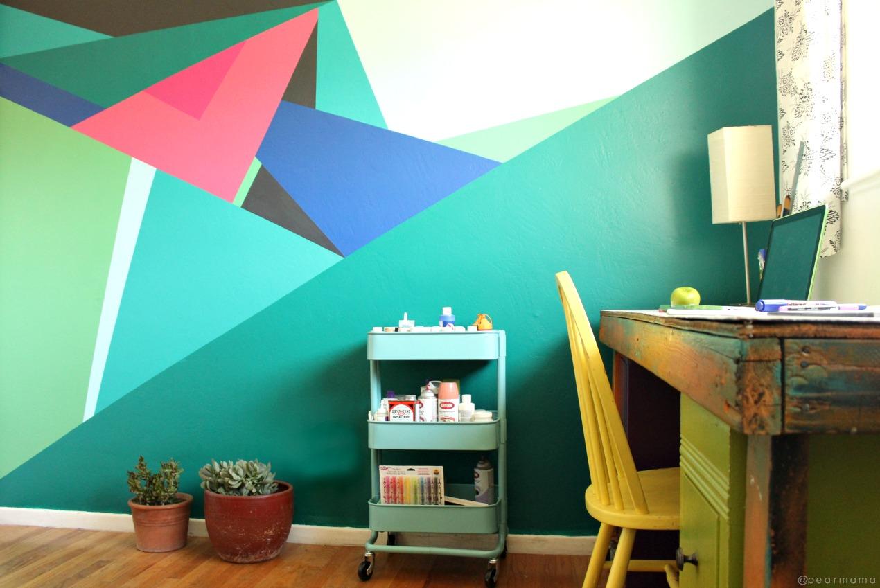 geometrik-dersenli-duvar-boyası