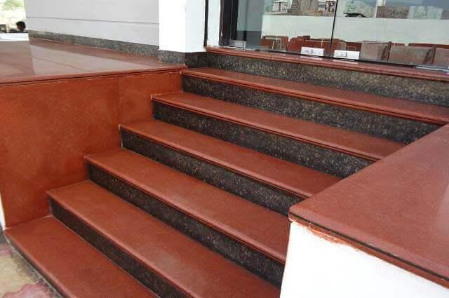 granit-merdiven-kırmızı