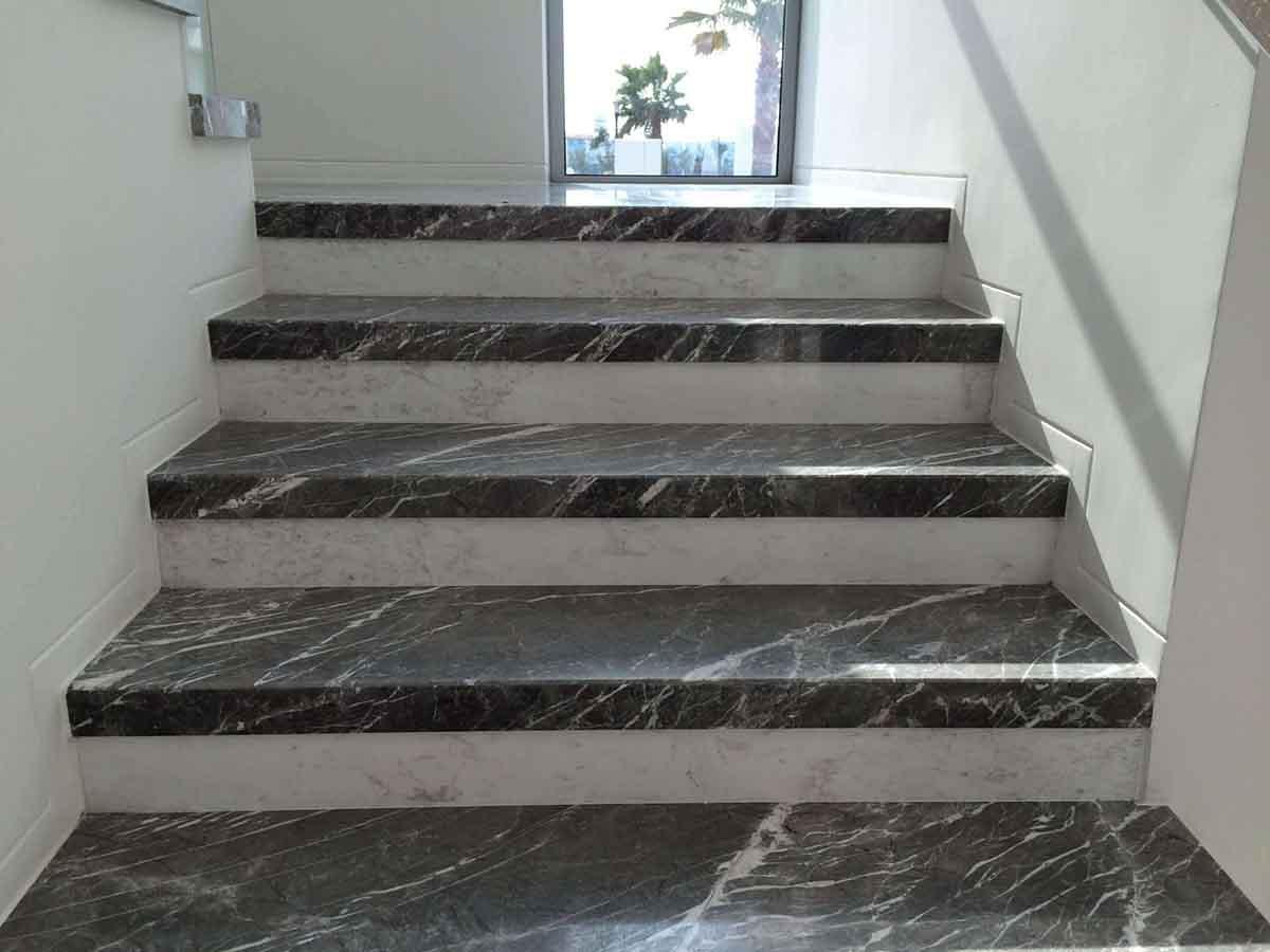 gri-mermer-merdiven