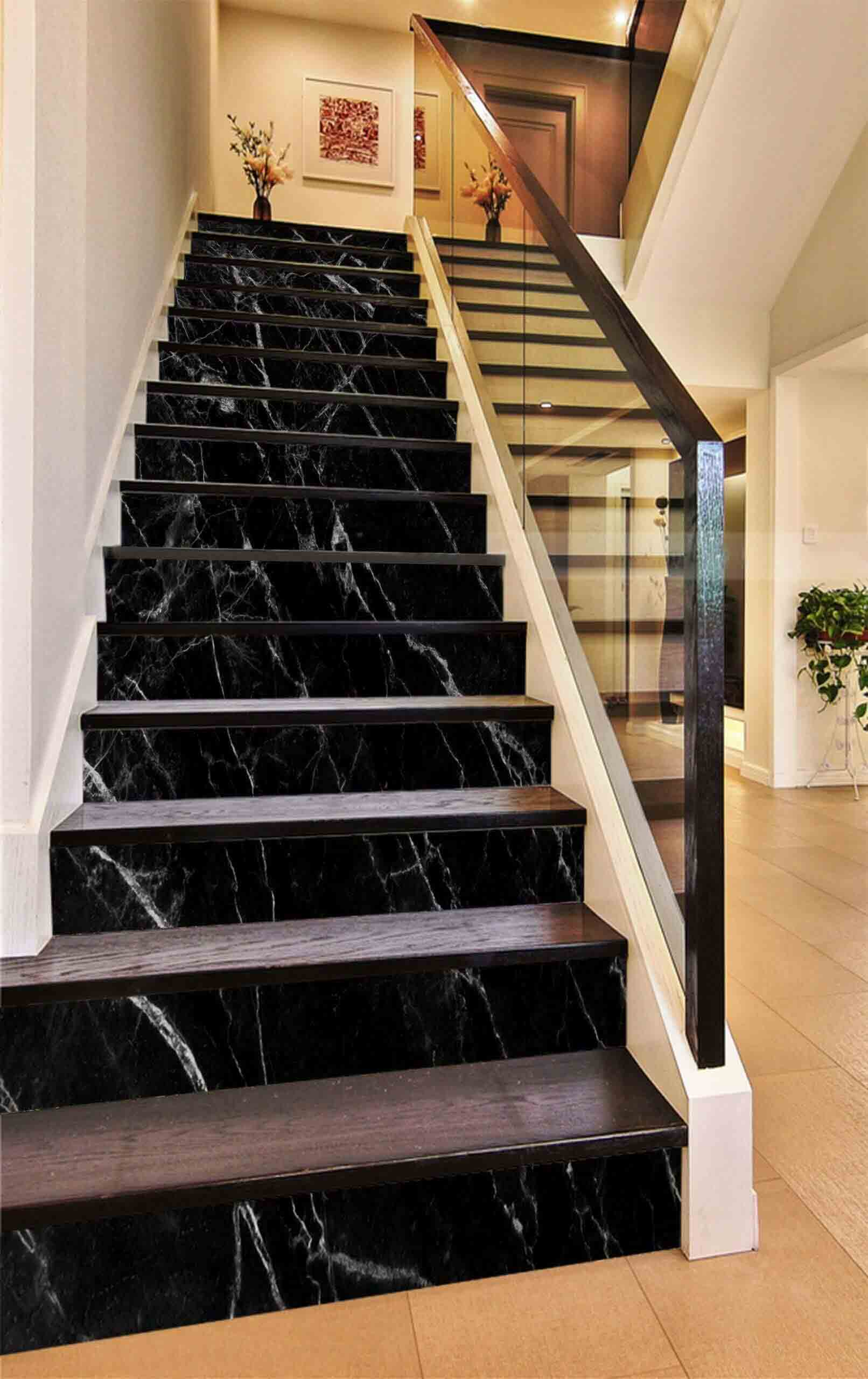 koyu-renk-mermer-merdiven
