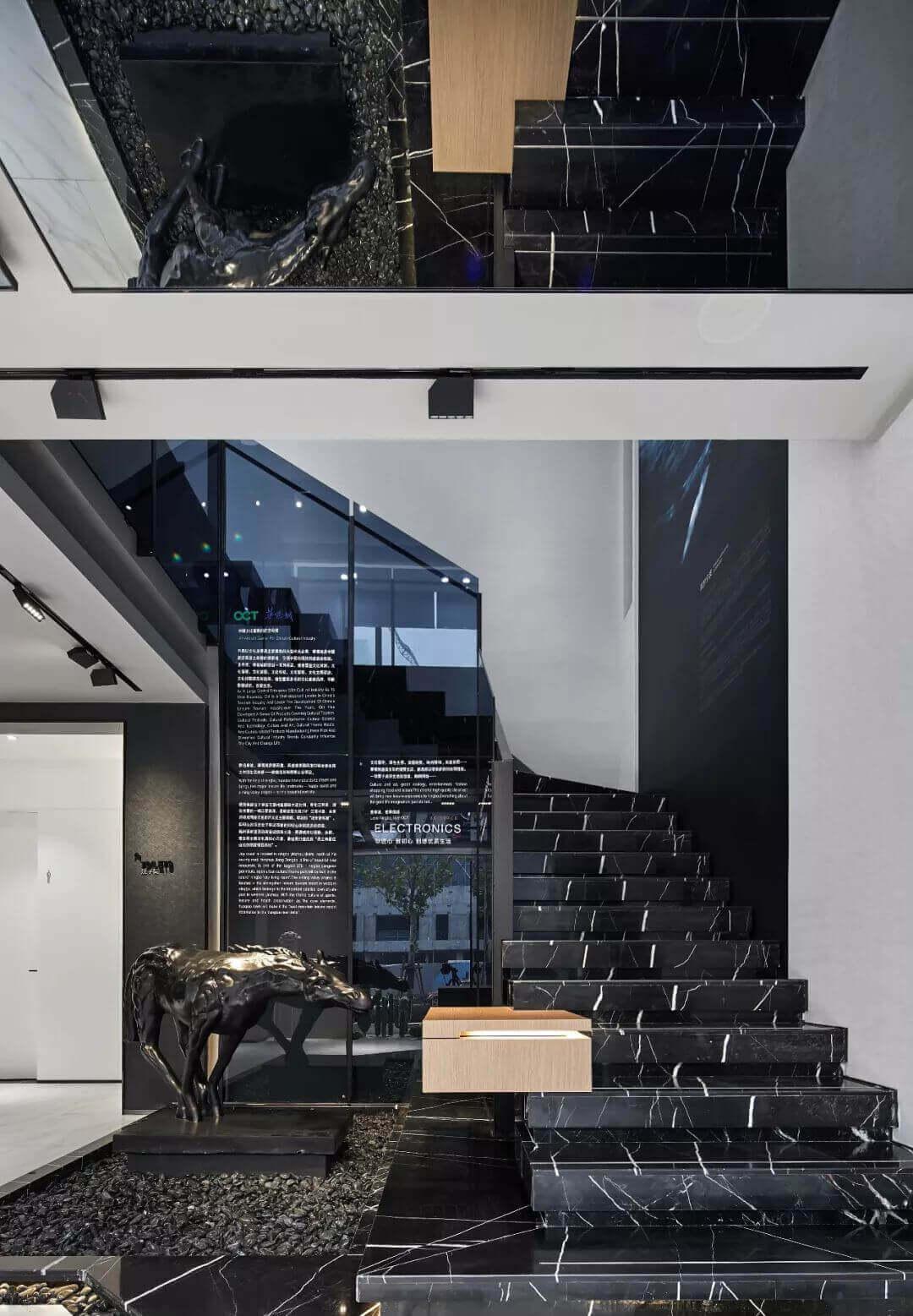 siyah-mermer-merdiven