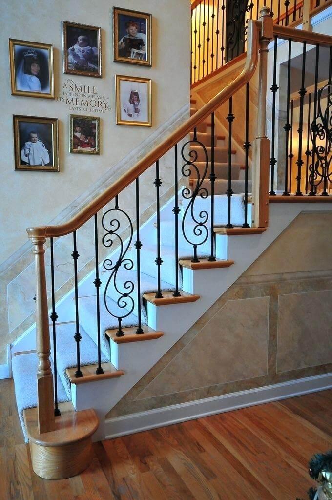 ferforje merdiven korkuluk modeli-9