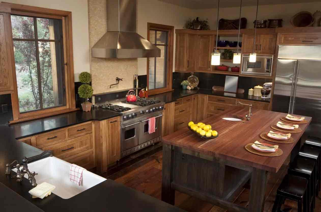 ahşap-görünümlü-mutfak-dolabi-modern