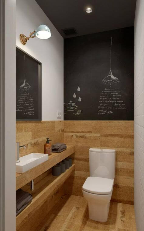 küçük-tuvalet-dekorasyonu-kahverengi-siyah-cafe