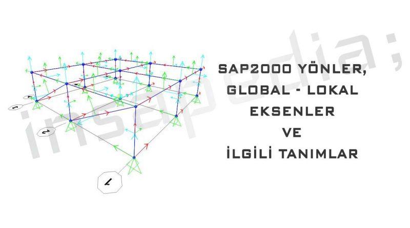 SAP2000 Yönler, Global - Lokal Eksenler ve İlgili Tanımlar