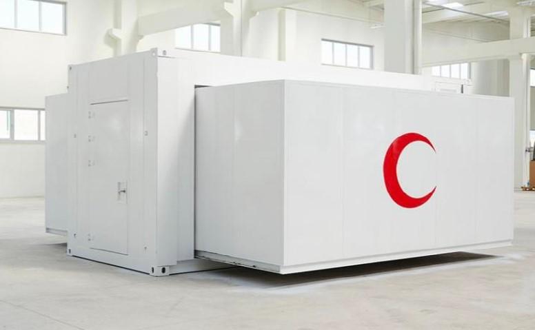 Sabit kullanım için genişletilebilir konteyner-sahra-hastanesi