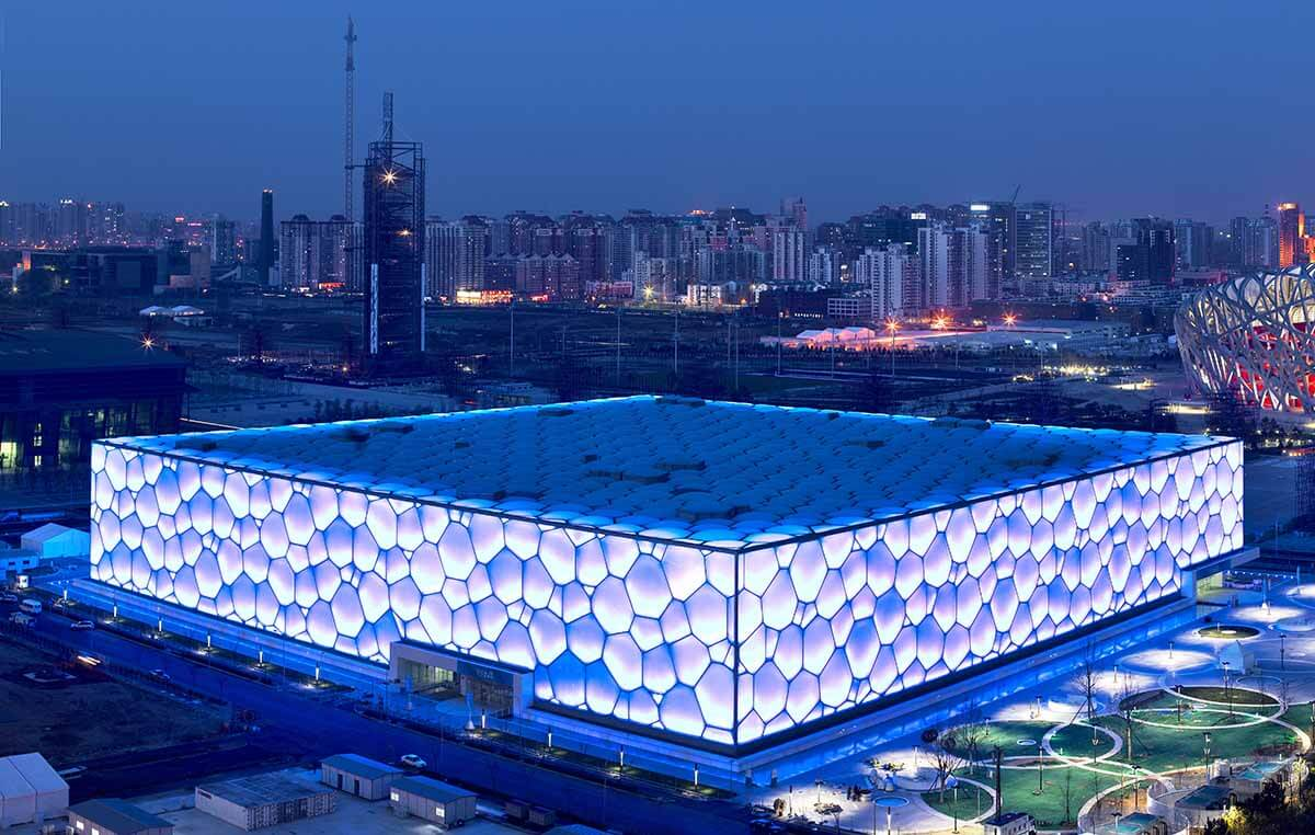 Beijing National Aquatics Center (Water Cube), Beijing, China, 2007 by PTW Architects, CSCEC, CCDI, and Arup.